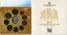 ITALIA 2011 DIVISIONALE UFFICIALE 9 MONETE + 5 EURO ARGENTO
