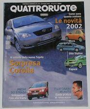 QUATTRORUOTE 1/2002 MASERATI SPYDER CAMBIOCORSA – RENAULT AVANTIME 3.0 V6