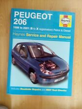 HAYNES WORKSHOP MANUAL PEUGEOT 206 1998 TO 2001 PETROL AND DIESEL