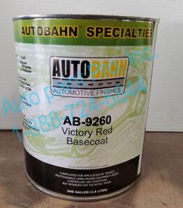 AB-9260 AUTOBAHN PAINT BASECOAT SINGLE GALLON AUTOBAHN RESTORATION CAR PAINT