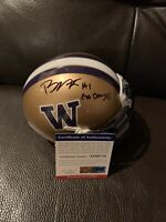 "Bryon Murphy Signed Washington Mini Helmet Inscribed ""Go Dawgs!"" Psa/dna"