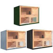 Resistant Waterproof Rabbit Hutch Cover Outdoor Small Animal Crates Cage Case