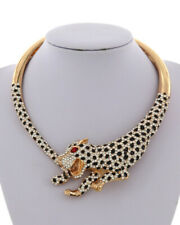 LUXE STATEMENT Gold  Black Red Animal Tiger Crystal  Necklace By Rocks Boutique