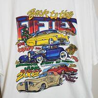 Vtg Car Show T-Shirt Back To The 50's St. Paul Minnesota Street Rod Assn XL