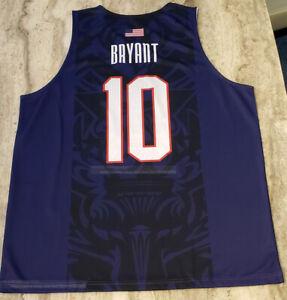 2008 Bryant #10 USA Jerseys Training American Basketball Workout Shirt