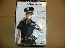 LEG AVENUE POLICE SHIRT WOMEN HALLOWEEN COSTUME LARGE