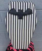 Sweet Midnight Coffin Bats Pin Striped Horror Punk Emo Goth Vegan Backpack Bag