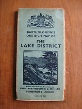 Bartholomew's One Inch Map of the Lake District (1939): cloth-bound