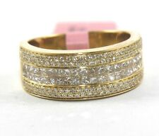 1.18ct 14k Yellow Gold Diamond Bridge Ring