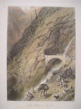 Suiza.« The Bridge Of Gondo » Painted Birket Foster (1825-1899) . Recorded