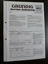 ORIGINALI service manual GRUNDIG sono-clock 600