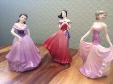 Coalport figurine group:Selina , Valentine Debutante Eternity, My Love Coalport