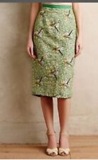 Anthropologie Tracy Reese Embroidered Dragonfly Green Pencil Skirt 4 NWT $298