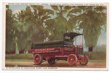 1910 Advertising Postcard Moreland Truck Co Los Angeles w/ Zerolene Oil Truck