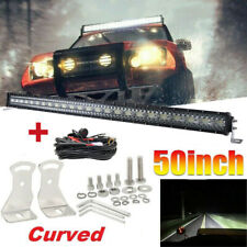 50inch LED Light Bar Curved 2880W Combo Offroad Driving Pickup SUV ATV 4WD 52""