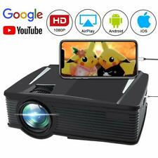 2019 WIFI 3D Full HD 1080P 8000 ANSI LED Projector Home Theater AV/2USB/HDMI NEW