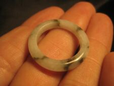 Natural Jadeite Jade ring Thailand jewelry stone mineral art size 9.25 A517