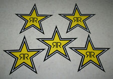 "lot of 5 Rock Star Rockstar Energy Drink 7"" star stickers unused"