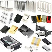 Various Shape Slim Pocket Wallet Credit ID Card Holder RFID Money Clip Purse New