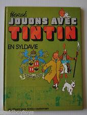 JOUONS avec TINTIN en Syldavie FRENCH ACTIVITY BOOK HERGE 1974 Casterman