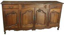 ANTIQUE SIDEBOARD FRENCH LOUIS XV ROCOCO 1900 OAK 4-DOORS 2-DRAWER