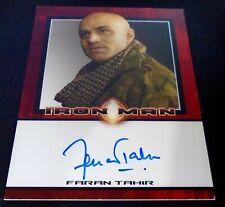 Iron Man 1 Movie Cards - Rittenhouse Autograph Card - Faran Tahir as Raza