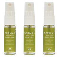 x3 DERMA E Blue Light Shield Facial Spray Mist .5 oz Ginseng Charcoal Algae New
