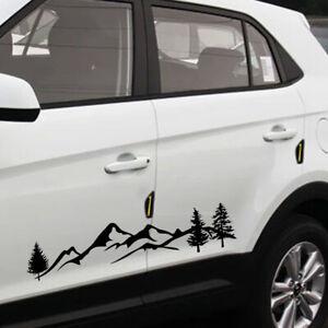 Tree Mountain Decal Scene Large Northwest Car Sticker Decor SUV Truck RV Offroad