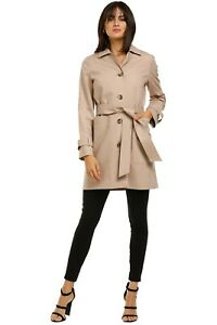 Whistles Classic Trench Coat in Neutral Size 10