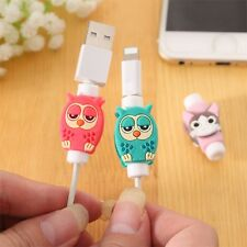 6pcs Cute Owl Shaped  USB Earphone Data Charger Cable Saver Protector Pro sa,fr