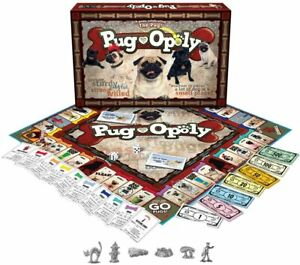 Pug-Opoly Family Board Game Monopoly Dogs & Puppy Fun Theme New