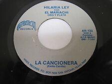 HILARIA LEY CON EL MARIACHI ORO Y PLATA on Arosl Records San Antonio TEXAS