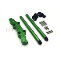 CLIPON ADAPTER PLATE & Handlebar Kit CNC For Kawasaki Ninja 650R ER6F 06-16 Gree