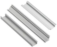 Aluminium profile channel for LED strip lights, surface corner recessed mounting