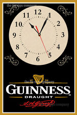 GUINESS WALL CLOCK. MAKES A GREAT GIFT FOR ANY BAR, MAN-CAVE KITCHEN ETC.
