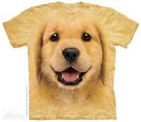 New The Mountain Golden Retriever Puppy T Shirt