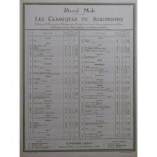BACH J. S. Bourrée Saxophone Piano 1963 partition sheet music score
