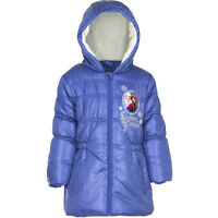 Boys Girls Kids Character Winter Padded Jacket Coat Hooded age 2-12years