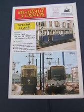 Chemins de fer régionaux et urbains 260 1997 La FACS a 40 ans de TRAMWAYS