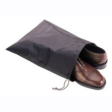 3 Waterproof Nylon Shoe Protection Travel Bag Set Drawstring Closure