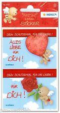 """Sticker Schmucketiketten Schutzengel """"alles Liebe"""" Lizenz Amor Herma 4767"""