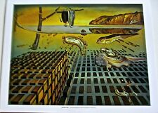 Salvador Dali Poster of The Disintegration of Memory Famous Warped Watch 14x11