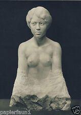 Japanerin Kunstdruck von 1914 Max Klinger weiblicher Akt Japan Großjena Büste