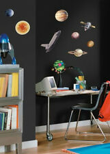 OUTER SPACE TRAVEL wall stickers 24 decals Rocketship Sun Planets Universe decor
