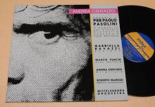 A CENTAZZO GROUPE:LP-OMAGGIO PASOLINI-ITALY JAZZ NM