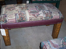 Rustic Wild West Print End of Bed Bench  (BN60)