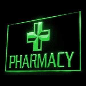 200008 Hospital Pharmacy Pharmacist Doctor Drug Display LED Light Neon Sign