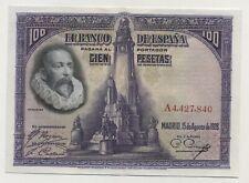 Spain España 100 Pesetas 15-8-1928 Pick 76.a XF+ Circulated Banknote