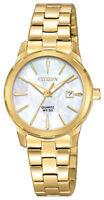 Citizen Women's EU6072-56D Quartz Date Gold-Tone Bracelet 28mm Watch