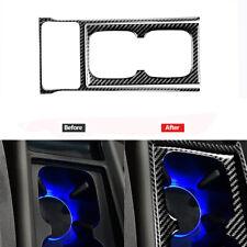 2pcs Carbon Fiber Watercup Panel Trim Cover Decor For Honda Civic 8th 2006 2011 Fits 2006 Civic